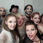 Bella Besame with the Slippery Belle at the Lowry In Manchester